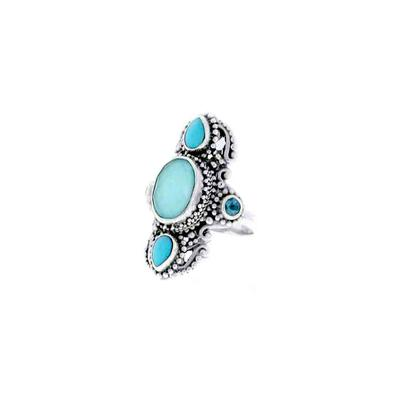 Sarda Sterling Silver & Mexican Turquoise Quartz Ring