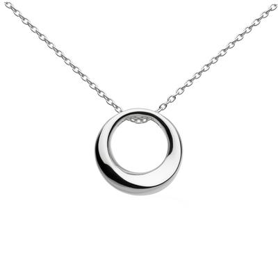 Kit Heath Sterling Silver Small Bevel Curve Necklace
