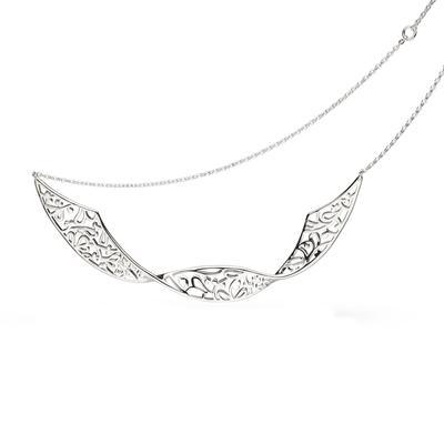 Kit Heath Sterling Silver Flourish Double Twist Necklace