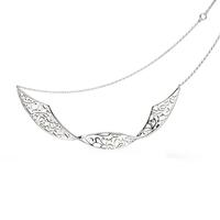 Kit Heath Sterling Silver Flourish Double Twist Necklace