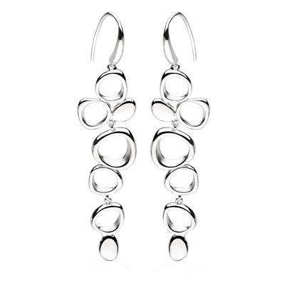 Kit Heath Sterling Silver Coast Shore Cascade Sandblast Earrings