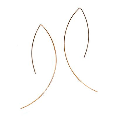By Boe Gold Filled Large Angular Wire Earrings