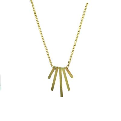 By Boe Gold Filled Quadruple Pin Necklace