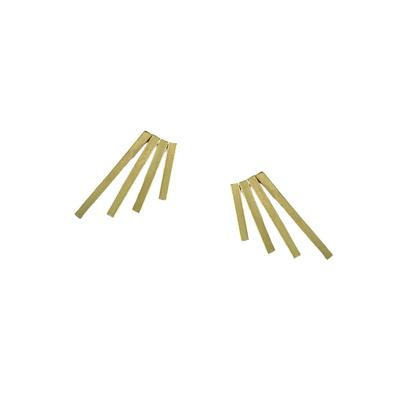 By Boe Gold Filled Quadruple Pin Studs