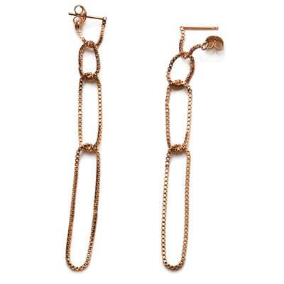 By Boe Gold Filled Looped Chain Drop Earrings