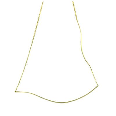 By Boe Gold Filled Gentle Curve Necklace
