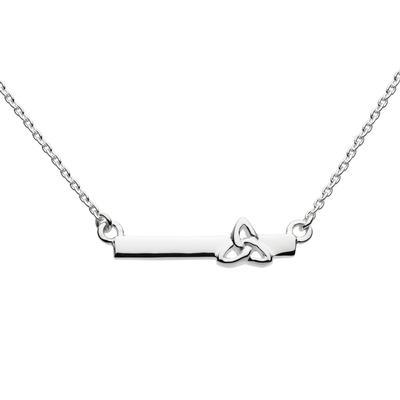 Kit Heath Sterling Silver Celtic Trinity Knot Bar Necklace