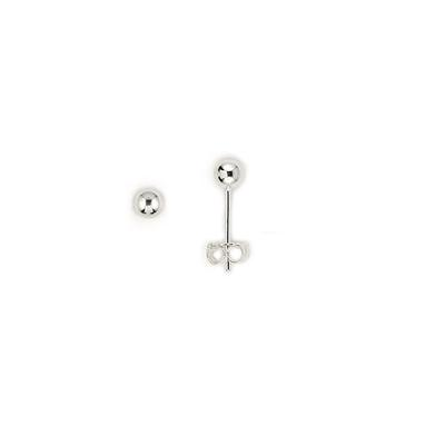 Sterling Silver 3mm Ball Studs