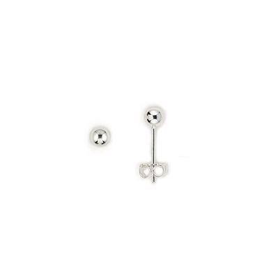 Sterling Silver 4mm Ball Studs