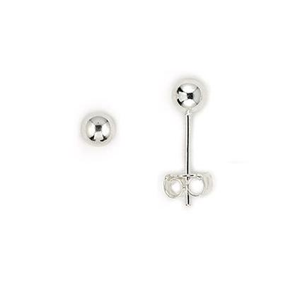 Sterling Silver 8mm Ball Studs