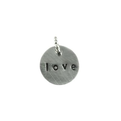 Kelley Reese Round Sterling Silver Love Pendant