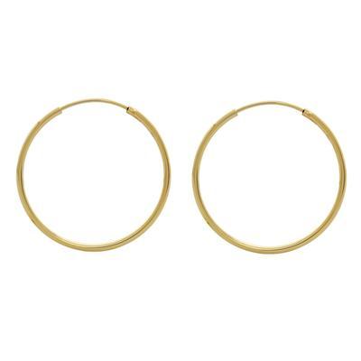 Thin 18mm Gold Vermeil Endless Hoops