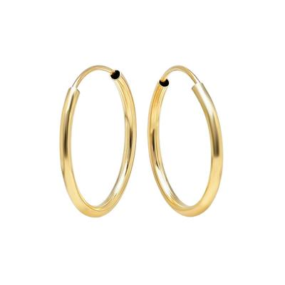 18mm Gold Endless Hoops