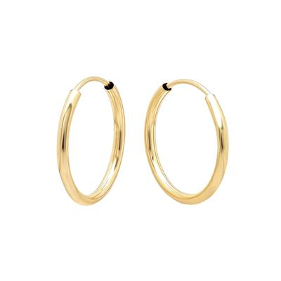 14mm Gold Endless Hoops