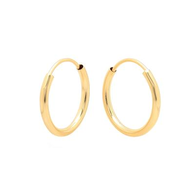 10mm Gold Endless Hoops