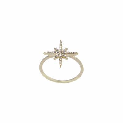 Gold Vermeil & Cz Starburst Ring