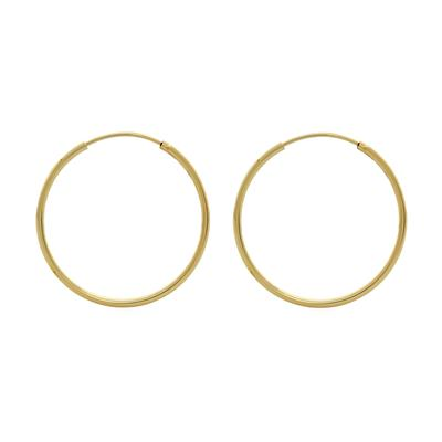 Thin 16mm Gold Vermeil Endless Hoops