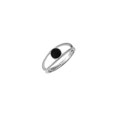 Boma Sterling Silver & Onyx Split Shank Ring
