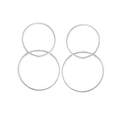 Boma Sterling Silver Double Circle Earrings