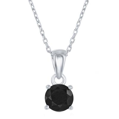 Sterling Silver & Sapphire September Birthstone Necklace